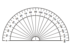 protractor template. drawing an angle (using the protractor template) template c