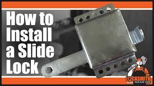 how to install a garage door slide lock locksmith