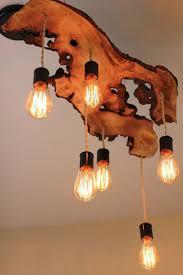 lighting reclaimed wood beams chandelier ideas wood lamps