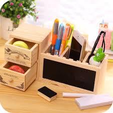 creative office supplies. wooden pen holder with blackboard cute desktop pencil kawaii desk tidy organizer pot creative office supplies