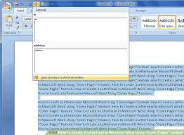 creating letterhead in word