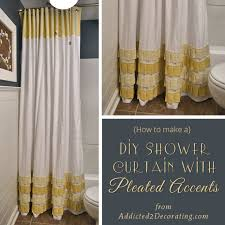 25 diy shower curtain tutorials domestic imperfection within how to make a remodel 10