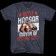 Final Fight Mens Short Sleeve T Shirt Navy Heather Vote Haggar Cool Casual Pride T Shirt Men Unisex New Fashion Tshirt Free Coolest Tees Awesome Tee