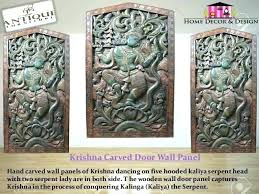 carved wooden wall art antique vintage decor panels 4 medallion wood india wood wall