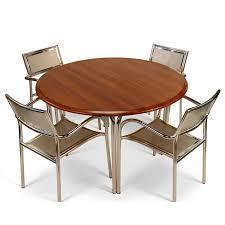 belden aluminium chair and round cherry table top garden set