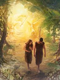 as adam and eve leave the garden of eden angels and a sword of fire