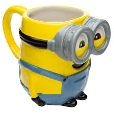 minions sculpted coffee mug bob