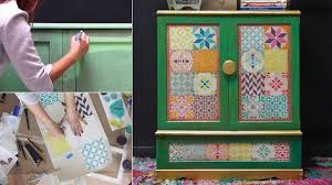 image stencils furniture painting. How To Stencil Furniture With Chalk Paint \u0026 Boho Style Tiles Image Stencils Painting
