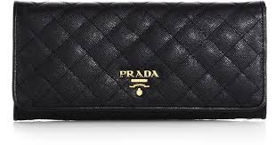 Prada Quilted Saffiano Continental Wallet in Black | Lyst &  Adamdwight.com