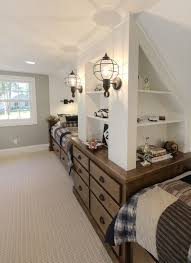 Slanted Ceiling Bedroom Love Those Lantern Lights For This Super Cute Boys Bunk Room