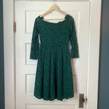 Miss May Boatneck Lace Cocktail Dress