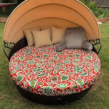 round outdoor daybed drawstring cover