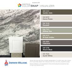 i found these colors with colorsnap visualizer for iphone by sherwin williams garden gate sw 6167 heron plume sw 6070 dovetail sw 7018