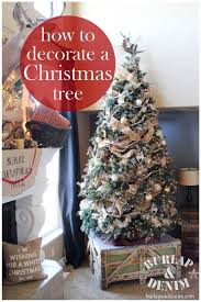 christmas trees decorated with burlap ribbon. How To Decorate Christmas Tree Burlap And Denim In Trees Decorated With Ribbon