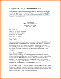 counter offer letter examples job offer counter proposal letter