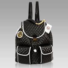 valentino orlandi designer black chanel leather sling purse backpack