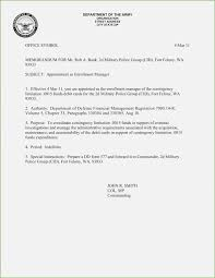 Sample Internal Memo Template Classy Army Letter Format Thepizzashop Wine Albania
