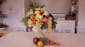 How to Make a <b>Fruit</b> Floristry <b>Arrangement</b> for a Banquet Table ...