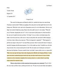 Argumentative Essay Teacher Example Essay
