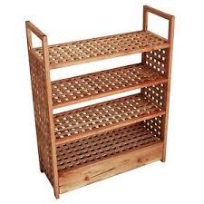 rack. 4 tier wooden shoe rack