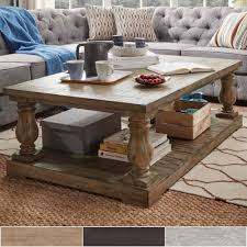 Furniture  SIGNAL HILLS Edmaire Rustic Baluster 55-inch Coffee Table