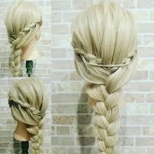 Hair Salon Mun On Twitter 本日のヘアアレンジ 金髪編みアレンジ