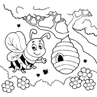 Small Picture Bee Coloring Pages Surfnetkids