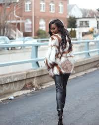 mulit color faux fur coat 3