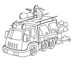 Disegno Di Camion Dei Pompieri Dei Cartoni Da Colorare Disegni Da