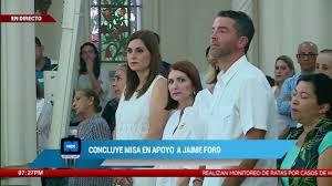 Concluye misa en apoyo a Jaime Ford - YouTube