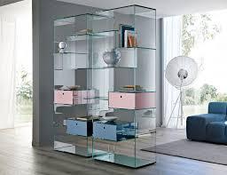 Italian glass furniture Coffee Table Liber Nella Vetrina Nella Vetrina Tonelli Liber Modern Italian Glass Bookcase