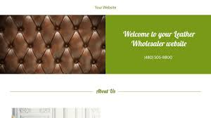 Example 14 Leather Wholesaler Website Template Godaddy