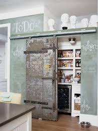 pantry with barn door