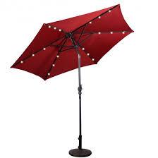 9ft patio solar umbrella led patio