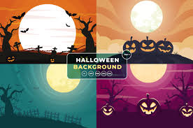 Free cute halloween wallpaper vector download in ai, svg, eps and cdr. Halloween Background Bundle Part 2 Graphic By Okevector Creative Fabrica