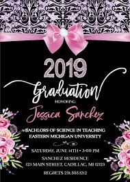 Elegant Graduation Announcements Items Similar To Elegant Graduation Invitation High School