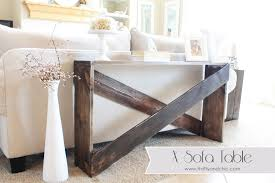 x sofa table tutorial