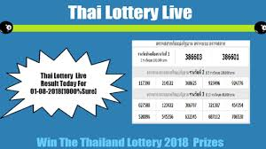 Thai Lottery Live Result Today For 01-08-2018[1000%Sure] - YouTube