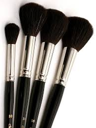 oil painting brush these black round oval mop brushes by silver