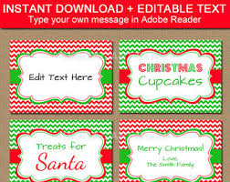 christmas placecard templates printable christmas buffet cards holly labels with gold