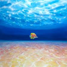 saatchi art artist gill bustamante painting under the crystal ocean a large