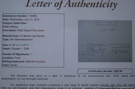 Smgp 1798 Hitler Signed Document With Jsa Certification War