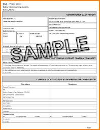 Construction Daily Report Template Business