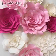 How To Make Paper Flower Backdrop 2pcs Paper Flower Backdrop Wall 20cm Large Rose Flowers Diy Wedding