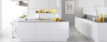 White Gloss Kitchen Crisp Gloss Lacquer Contemporary Handle Less Kitchen Malmap Gloss
