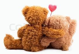 Teddy <b>Bears</b> with pink <b>love heart</b> | Stock image | Colourbox