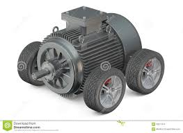 electric car motor. Electric Car 3d Concept - Motor On Wheels