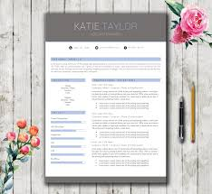 Resume Template 5 Pages Modern Stylish Cv Template For Word