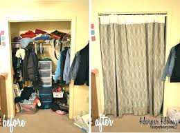 curtain for closet door curtains closet door curtains instead of closet doors marvelous curtains for closet