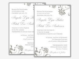 Wedding Template Microsoft Word Wedding Invitation Template Word Ritadubasdesign